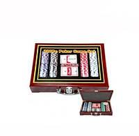 Покерный набор на 200 фишек и деревянный кейс