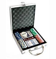 Покерный набор на 100 фишек и 2 колоды игральных карт