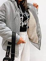 Худи толстовка женская зимняя Батник теплый Свитшот женский Худи на меху Кофта женская кенгуру трехнитка