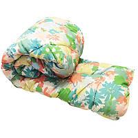 Одеяло Lotus flower холлофайбер 145/210 зелёная цветочная поляна