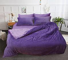 Постельное белье сатин и плюш Фиолетовый, комплект евро
