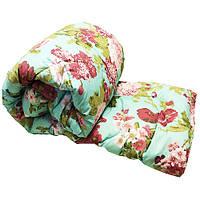 Одеяло Lotus flower холлофайбер 145/210 зелёное весенние цветы