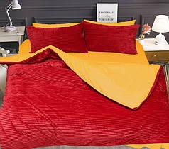 Постельное белье сатин и плюш Красный, комплект евро