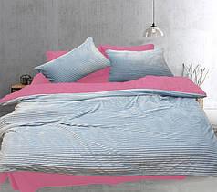 Постельное белье сатин и плюш Светло голубой, комплект евро
