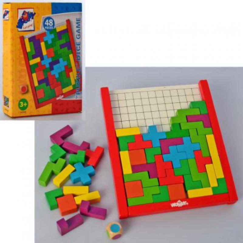 Дерев'яна гра головоломка Логіка, танграм, тетріс 37736 2181
