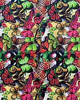 Бифлекс цветной Цветочный (Бифлекс принт Цветы, 5 принтов, ОПТ/РОЗНИЦА)