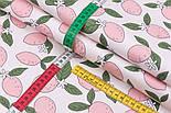 """Лоскут сатина """"Розовые лимоны"""" №3112с, размер 40*80 см, фото 3"""