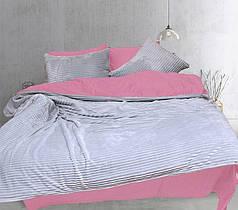 Постельное белье сатин и плюш Светло серый, комплект евро
