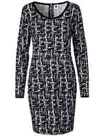 Черно белое платье с длинными рукавами от Peppercorn