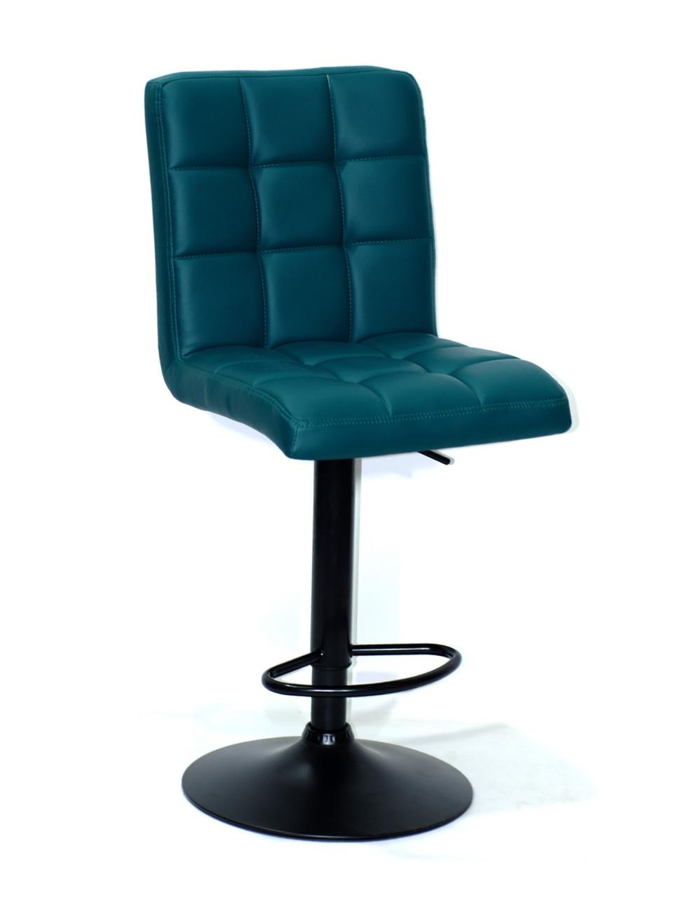 Барний оксамитовий сірий стілець з підставкою для ніг для салонів краси та кафе AUGUSTO BAR CH-Base