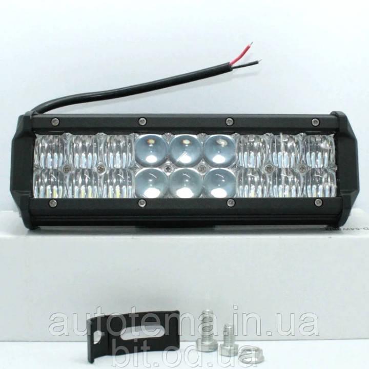 Автомобільна світлодіодна LED фара 9.5 см 23см Автофара LED на дах (18 LED) 5D-54W-MIX (235 х 70 х 80)