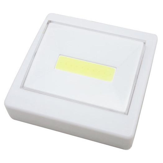 Лед світильник вимикач на батарейках 8.7х8.7 см. Білий, лід ліхтар   светильник выключатель