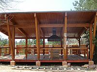 Строительство беседок и конструкций из деревянных ферм