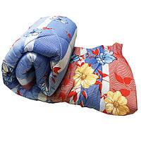 Одеяло Lotus flower холлофайбер 175/210 голубое полоска