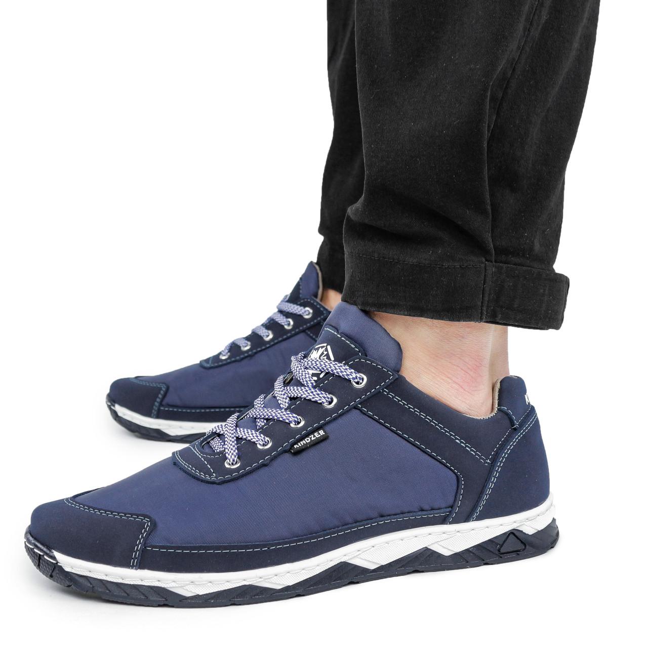 Кроссовки мужские Kindzer синие демисезонные текстиль 44 р. - 29 см (1356011063)