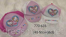 Кепки для девочек Hello Kitty 48-50 p.p.