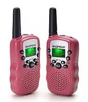 Рация Baofeng MiNi BF-T2 PMR446 2шт Розовый