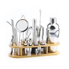 Набір для бару Youchen МС-17 17 предметів з підставкою інвентар бармена