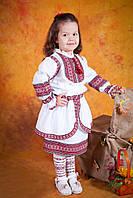 Украинский вышитый костюм для девочки, размер 34
