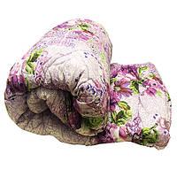 Одеяло Lotus flower холлофайбер 200/220 фиолетовое цветы