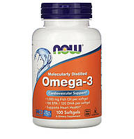 Now Foods Omega-3, 100 капсул