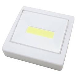 Лед світильник вимикач на батарейках 8.7х8.7 см. Білий, лід ліхтар | светильник выключатель