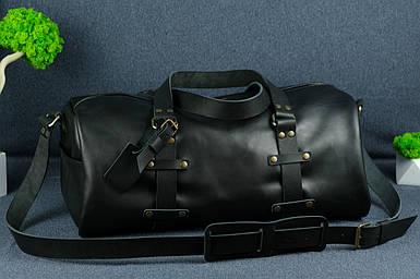 """Сумка Travel """"Модель №81"""", Шкіра Італійський краст, колір Чорний"""