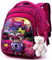Ортопедический школьный рюкзак для девочки каркасный в 1-3 класс с пеналом и сумкой для сменки Winner One 5001, фото 2