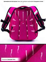 Ортопедический школьный рюкзак для девочки каркасный в 1-3 класс с пеналом и сумкой для сменки Winner One 5001, фото 3