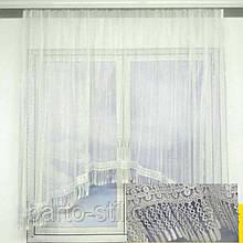 Арка-занавеска на кухню из сетки и макраме на карниз 2 м. разные цвета