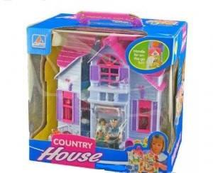 Домик для кукол раскладной Country house с фигурками и мебелью арт.F611, фото 2