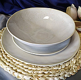 Тарелка Кения круглая размер 20,5х2,5 см  JM1004W, фото 6
