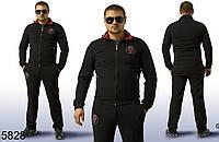 Черный модный мужской спортивный костюм Андрэа