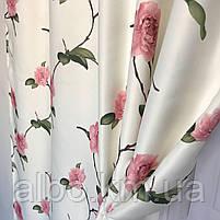 Готовые шторы с цветочным принтом для спальни зала комнаты, атласные шторы для спальни детской хола, шторы для, фото 6