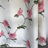 Готовые шторы с цветочным принтом для спальни зала комнаты, атласные шторы для спальни детской хола, шторы для, фото 5