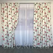 Готовые шторы с цветочным принтом для спальни зала комнаты, атласные шторы для спальни детской хола, шторы для, фото 7