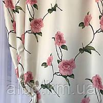 Готовые шторы с цветочным принтом для спальни зала комнаты, атласные шторы для спальни детской хола, шторы для, фото 8