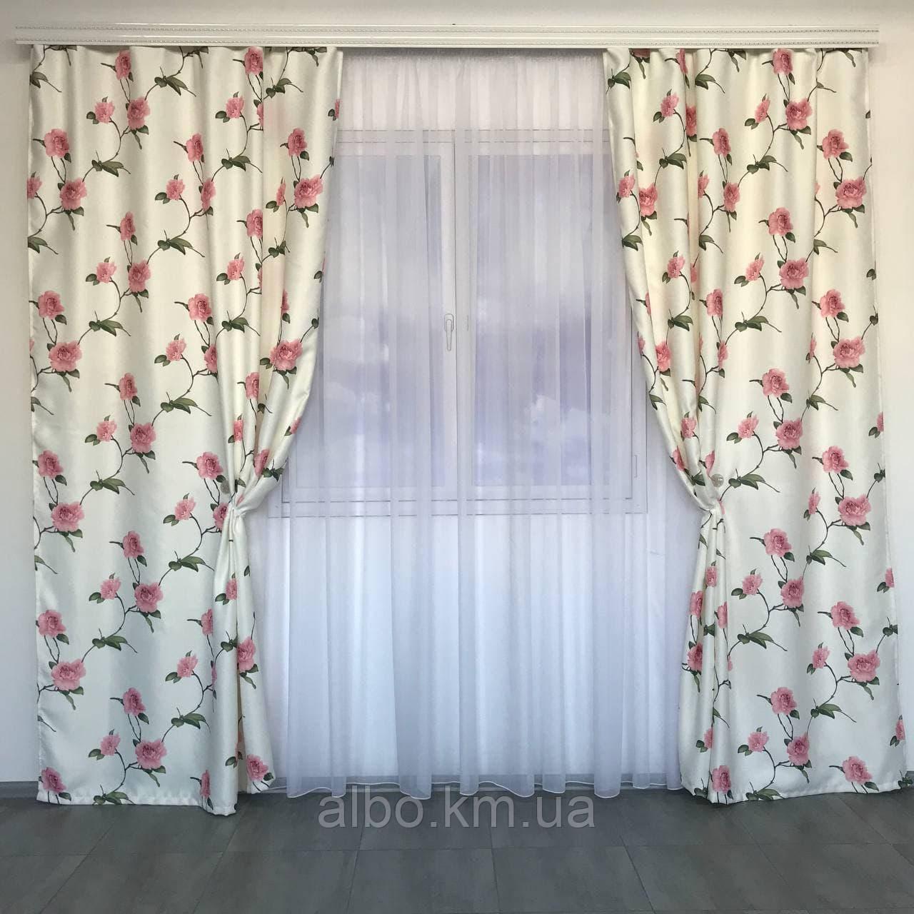 Готовые шторы с цветочным принтом для спальни зала комнаты, атласные шторы для спальни детской хола, шторы для