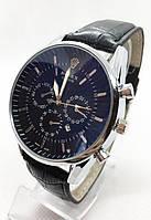 Чоловічі наручні годинники Rolex (Ролекс), срібло з чорним циферблатом ( код: IBW596SB )