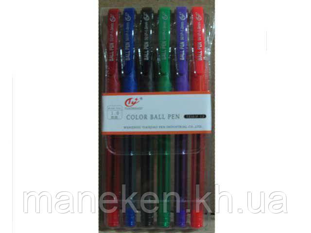 Ручки в наборі тм Tianjiao 501р (6цветов ) (1 пач.)