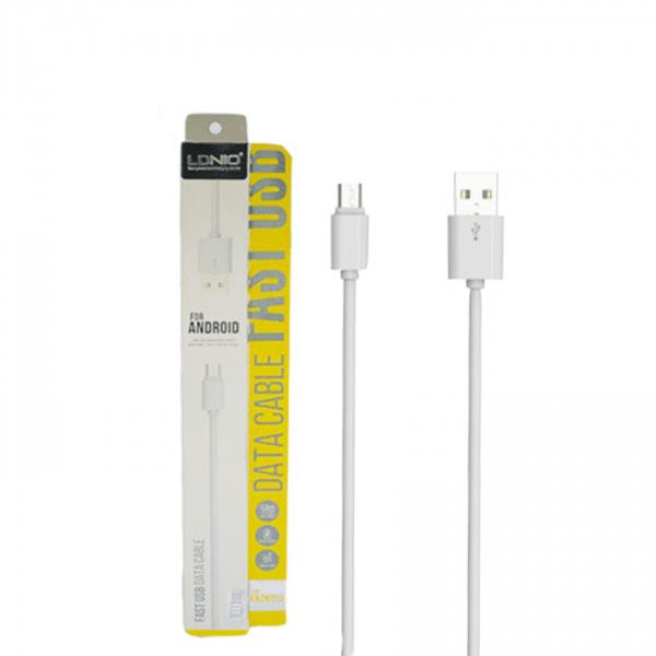 Кабель LDNIO SY-03 micro USB White 1m