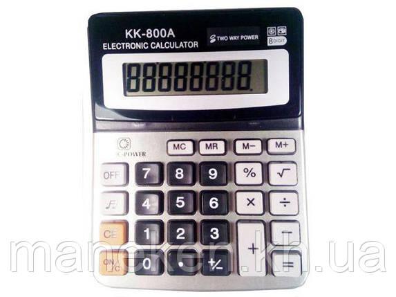 """Калькулятор """"KK 800A(8 розрядний 2питания) (1 шт), фото 2"""