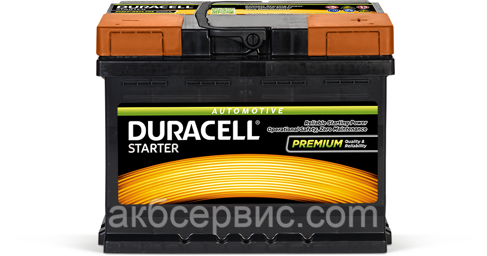 Аккумулятор автомобильный Duracell UK027 Starter (DS62)