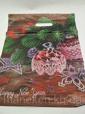 """Пакети з вирубний ручкою (35*45) """"Новий рок"""" (50 шт), фото 2"""