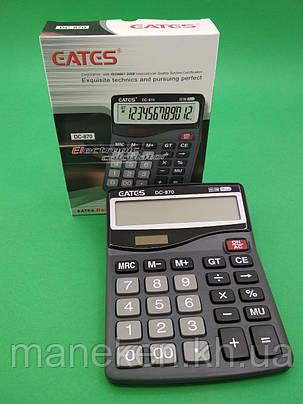"""Калькулятор """"EATES"""" DC 870(12разрядный 2питания) (1 шт), фото 2"""