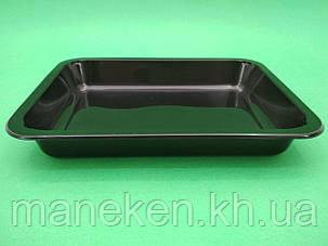 Ланч бокс полипропиленовый черный T-1   227 х 178 х 30 мм (50 шт), фото 2