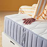 IKEA VAGSTRANDA Матрас, карманные пружины, средней жесткости, твердый/светло-голубой, 160x200 см (704.507.54), фото 8