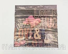 """Пакет з пластиковою ручкою """"Лав"""" без ручки (10 шт), фото 2"""