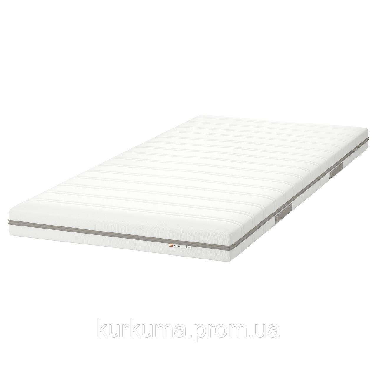 IKEA MALVIK Пенополиуретановый матрас, твердый/белый, 90x200 см (502.722.63)