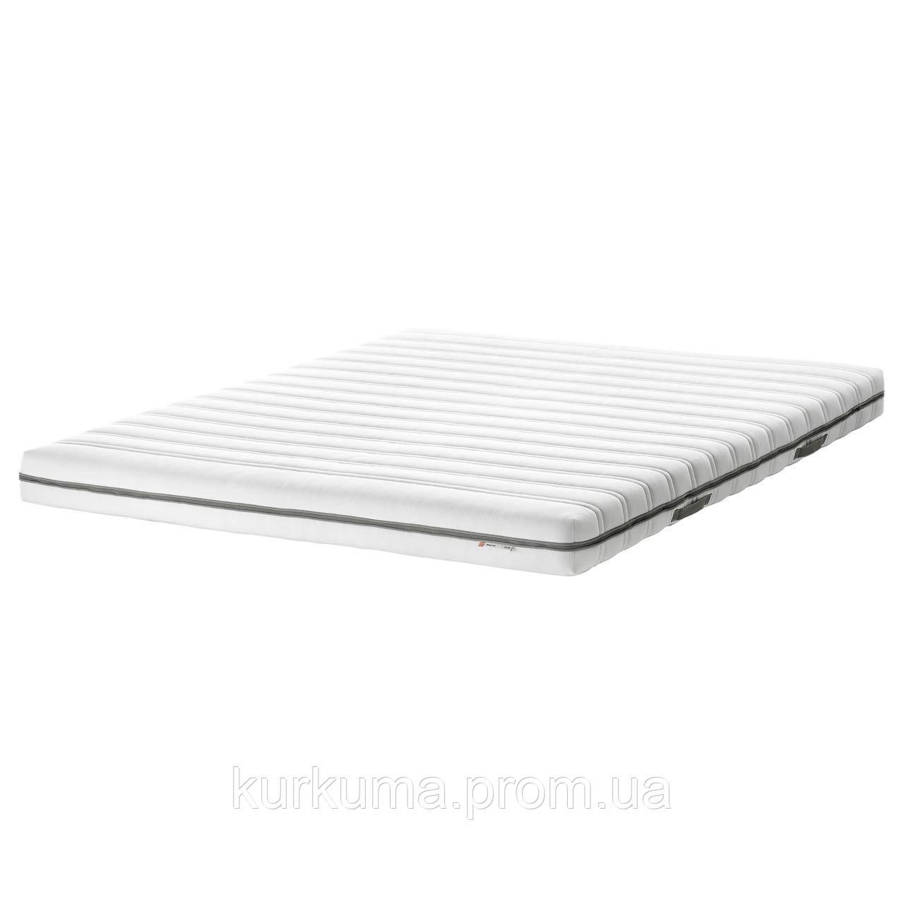 IKEA MALVIK Пенополиуретановый матрас, твердый/белый, 140х200 см (802.722.52)
